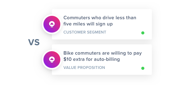 GLIDR product assumptions UI